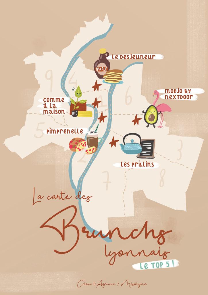 top 5 brunchs à Lyon Clem l'Agrume Mésolyne