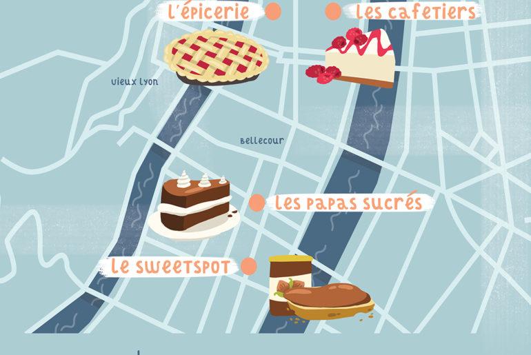 Carte top 5 salons de thé Lyon Clem l'agrume Mésolyne