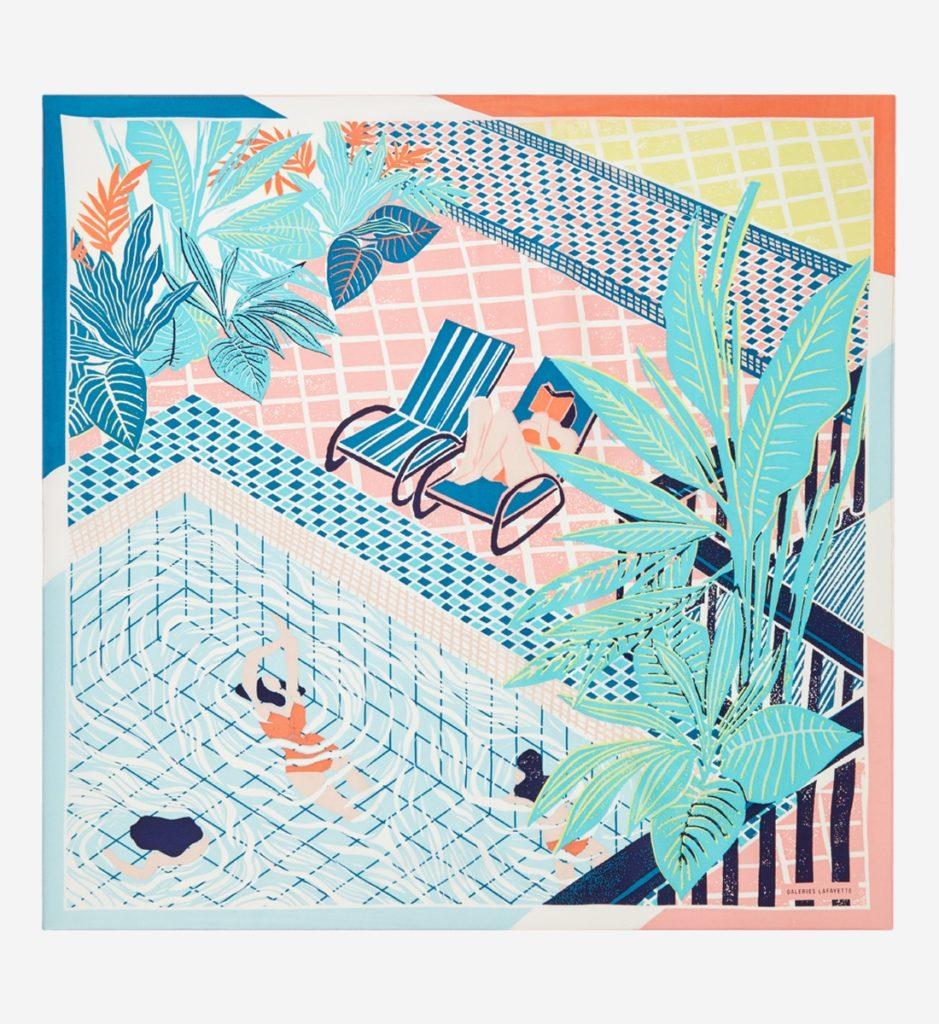 carré de soie piscine galeries lafayette