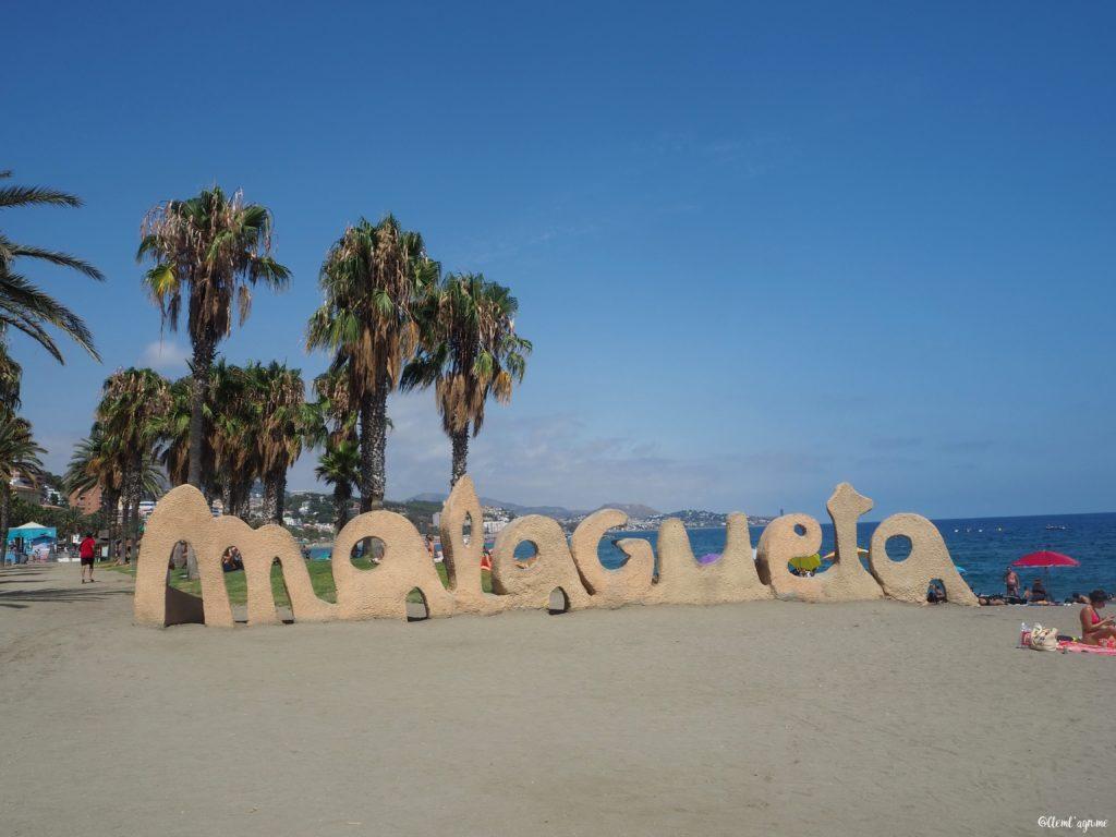Malaga plage de la malagueta