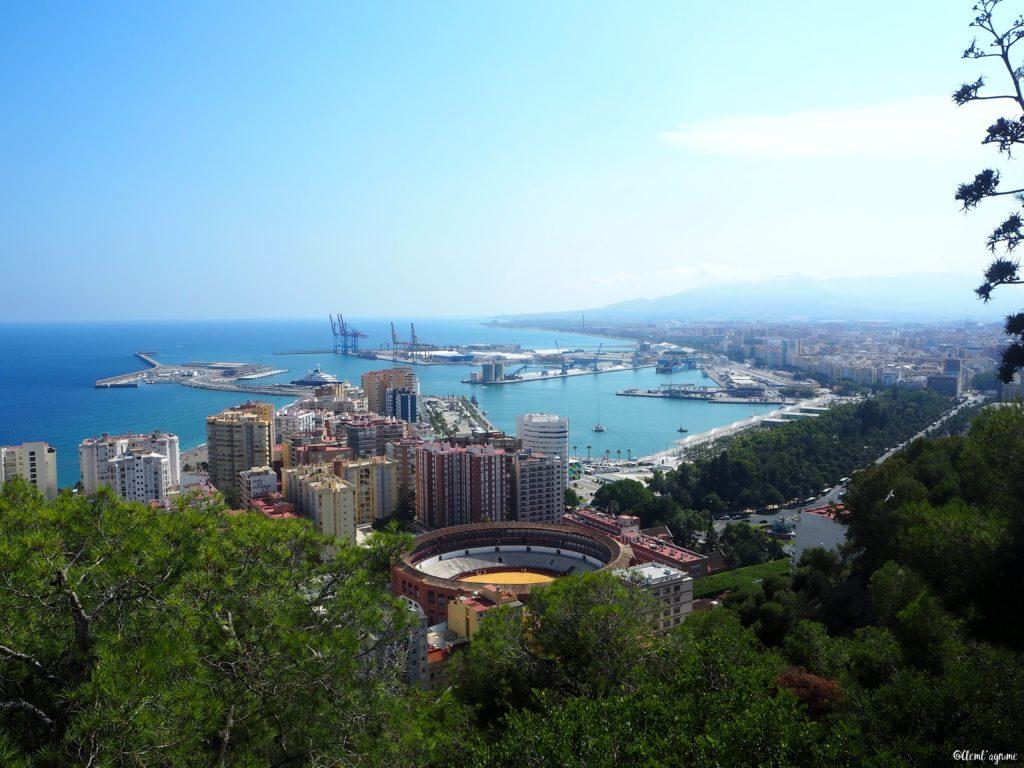 Malaga vue du chateau