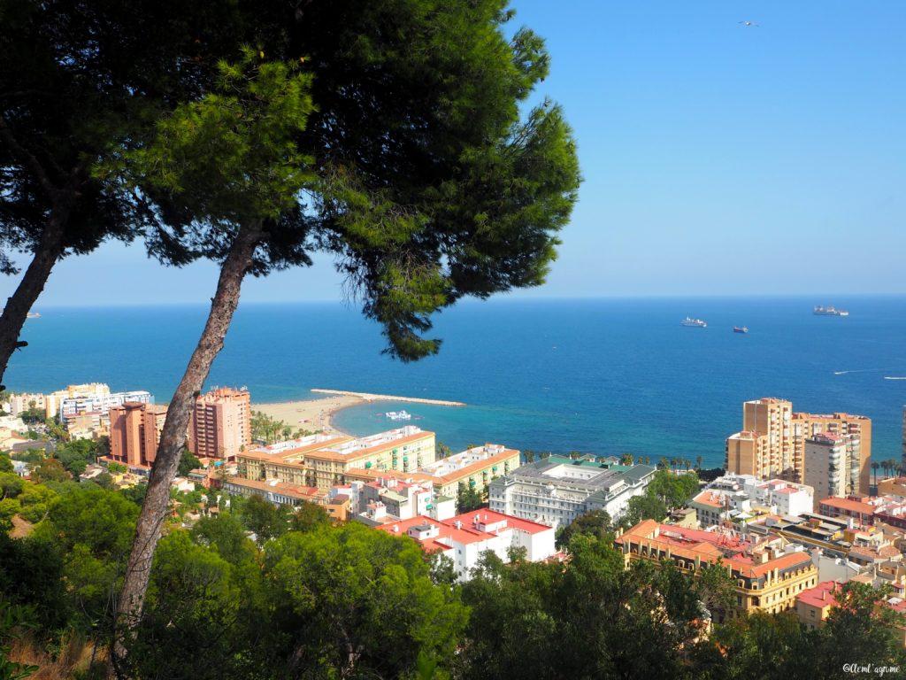 Malaga vue sur la mer