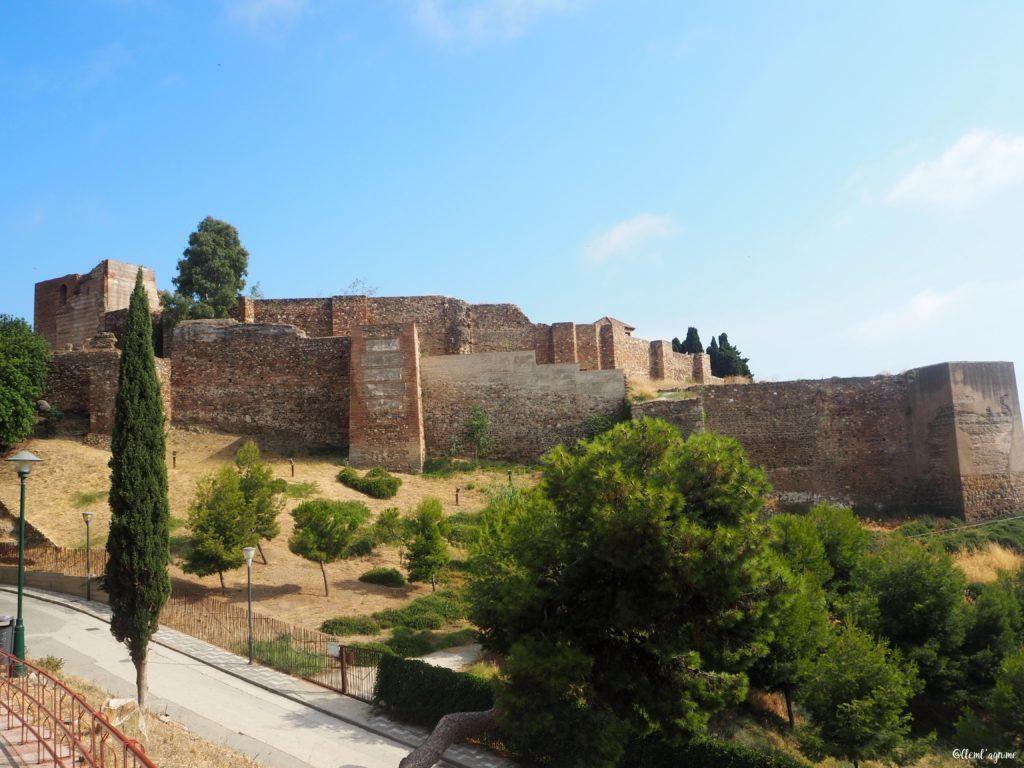 Malaga vue sur l'alcazaba