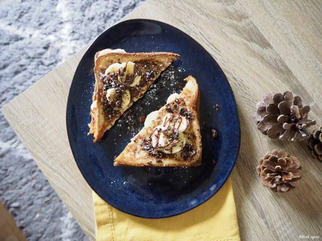 Recette de pain perdu banane pâte à tartiner